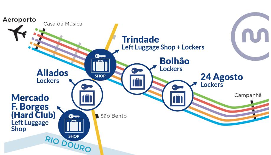 Left Luggage Lockers Porto - directions